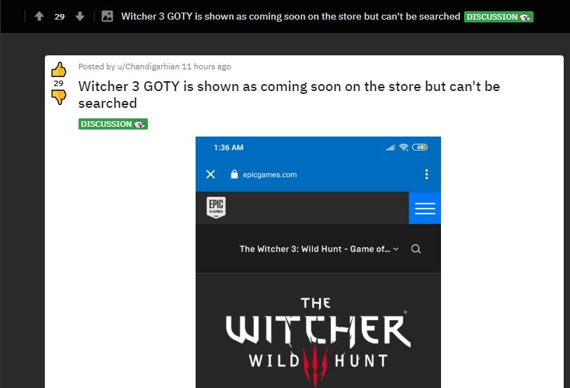 Setelah GTA V The Witcher 3 GOTY Edition Dirumorkan Gratis Di Epic Games