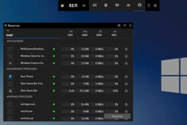 Xbox Game Bar Windows 10 Kini Miliki WIdget Mirip Taskbar