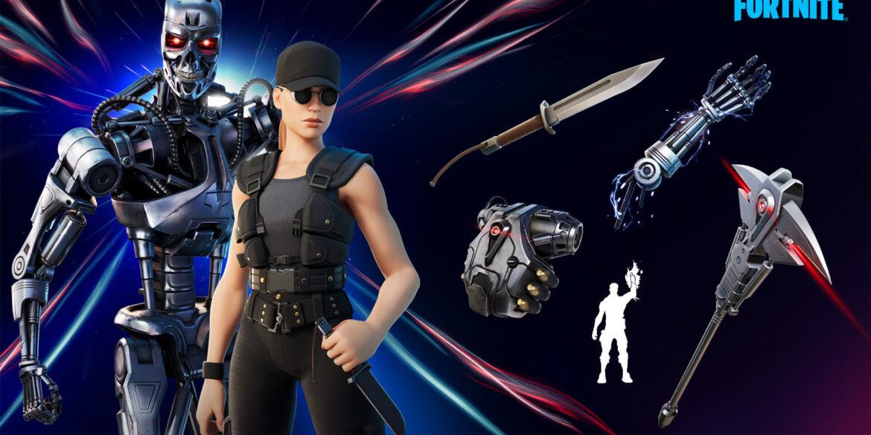 Skin Terminator T-800 dan Sarah Connor Kini Hadir di Fortnite