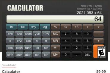 Unik, Nintendo Switch Dapatkan Aplikasi Kalkulator dan Dijual 140 Ribu!